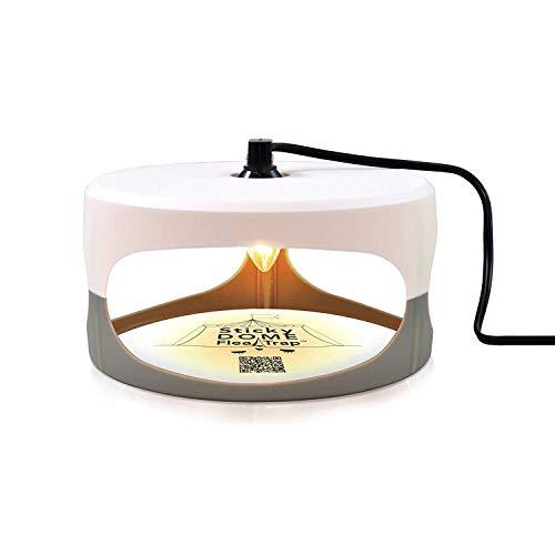 Aspectek Ultimate Flea Trap for Inside Your Home with 2 Glue Discs, Natural and Pet-Friendly Dome Flea Trap Light