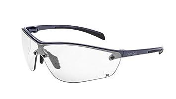 4bbfbf7550 Bolle Safety Silium+ Safety Glasses, Dark Gunmetal Frame, Clear Lenses