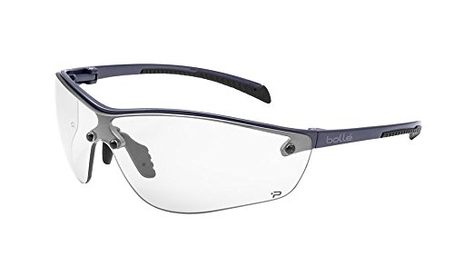 Bolle Safety Silium+ Safety Glasses, Dark Gunmetal Frame, Clear - Sport Bolle