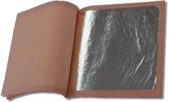 Genuine Silver Leaf Booklet (25 Sheets/Loose - Times Usps Shipping Transit