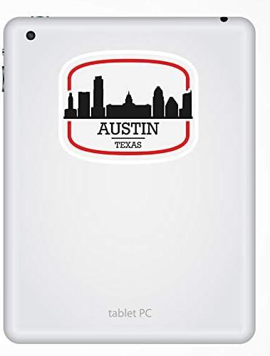 2 x 10cm Austin Tejas pegatinas de vinilo Am/érica EE.UU etiqueta de equipaje port/átil # 17083 10 cm de ancho