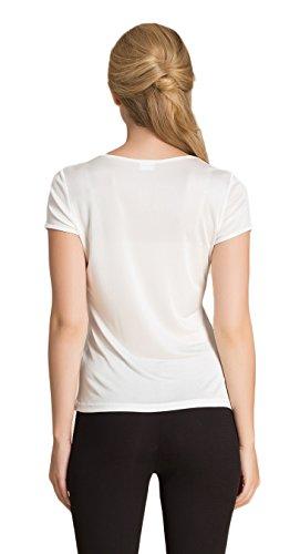 T Women's Tops Silk shirt Mulberry Clc Camisole Blanc Tank q01wEIdx