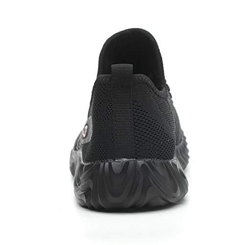 Confortable Zoeashley Travail S3 Homme Femme Legere Chaussure De Securite Et Black ArwqS0A