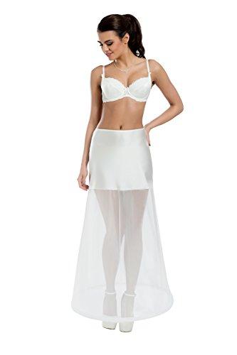 MGT-Shop Damen Reifrock Crinoline Braut Reifrock Petticoat Unterrock für Brautkleider Hochzeitskleider Ballkleider Abendkleider 36-44 HM13-190 ivory/creme lWNp4LPq3