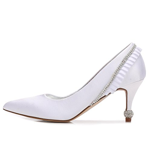 De De Femmes Mariage L white De Orteil Pour Chaussures YC Moyenne Les Nuptiale Chaussures De Partie Cour TUUER