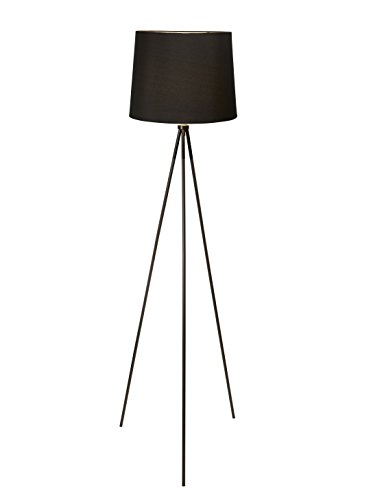 Black Floor Lamp - Newhouse Lighting NHFL-AL-BK Alexandria Tripod, Floor Lamp, Black