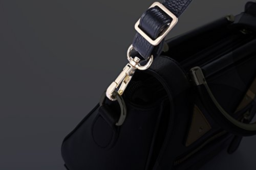 SeptCity Top Quality Grain Leather Adjustable Shoulder Straps -1.8 CM Width(Elegant Silvery)