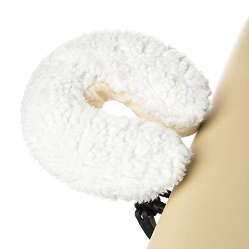 Saloniture Fleece Massage Table Face Cradle Cover - Facial Bed Headrest Pillow
