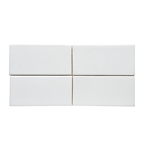Waterworks Architectonics Field Tile 3 x 6 in White Glossy by Water Works