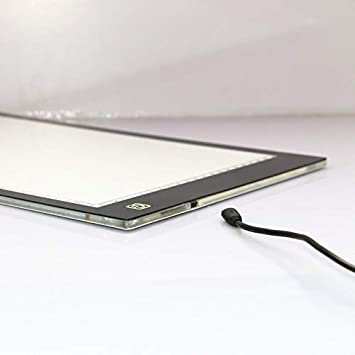 Tattoo Drawing LED Tracking Light Streaming Media Portable A4 Size LED Copy Board Light Box Scale USB Power Supply Ultra-Thin Adjustable Animation Sketching Used for Imitation Wording