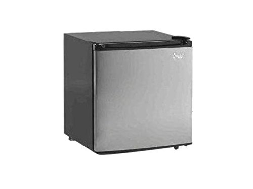 Black Super Conductor Stainless Steel 1.7 Cu Ft Refrigerator With Quiet Thermoelectric cooling And Auto Defrosting Technology Fridge, Perfect For Your Home TV room, Dorm Room Basement Or Back Porch