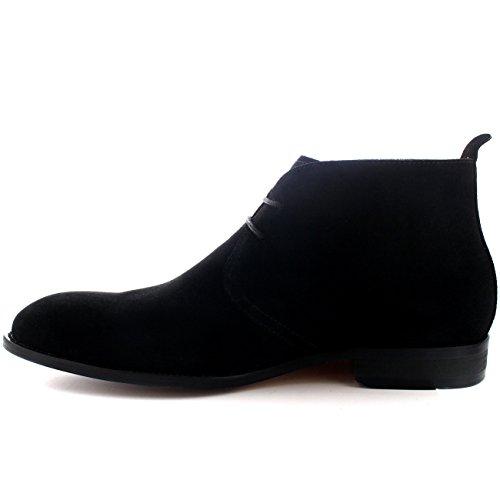 Bottes Mi Chaussure Désert Chukka Britannique Hommes Coupe Queensbury Spencer Noir Cheville Style ZaTvxFq6wn