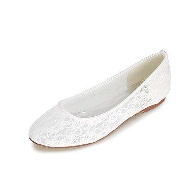 Cómodo y elegante soporte de zapatos de las mujeres pisos de primavera/verano/otoño Flats sintética boda/fiesta y noche blanco