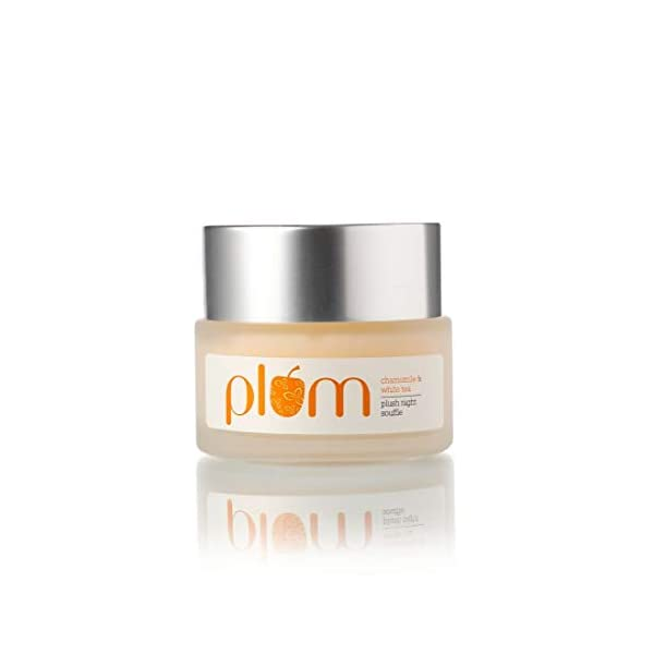 Plum Chamomile & White Tea Plush Night Souffle   Night Cream   Quick-absorbing, Fluffy Texture   Brighten Skin   Normal… 2021 August LIGHT, SMOOTH & CALMING: The perfect night cream for normal, combination skin! Fluffy texture that's not too dry, or too sticky - but that gets you bright. This light-weight, luxurious overnight cream gently rejuvenates and works well overnight to give your skin a hydrated, plush, bouncy feel. CHAMOMILE EXTRACTS: Chamomile is known to have a calming effect leaving you feeling soothed and nourished from deep within! HOW TO USE: Gently wash face and pat dry with a towel before going to bed. Apply pillow-proof night gel on your face and neck for a non-greasy, fresh morning!