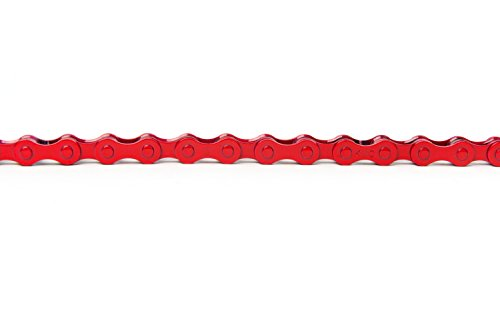 KMC Z410 Bicycle Chain (1-Speed/1/2 x 1/8-Inch/112L), Red