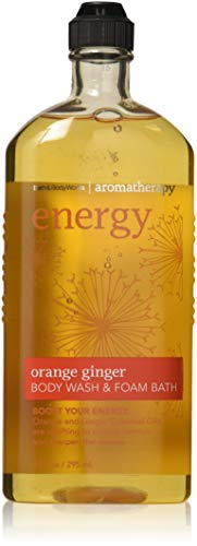 Set of 2 Bath and Body Works Aromatherapy Orange Ginger Original Version Body Wash Foam Bath 10 Ounce Each No Longer In Stores