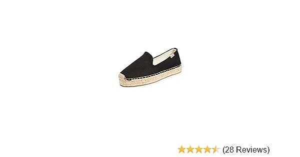 Women Espadrille Flats Original Slip on Loafer Shoes Smocking Slippers Blue