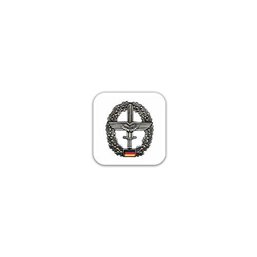 Beret badge Army aviator troops combat support airmen swinging sword oak leaf badge emblem for Audi A3 BMW VW Golf GTI Mercedes (7x7cm) - Sticker Wall Decoration
