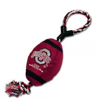 Ohio State Buckeye Dog Pet Toy Football by Marketing Results, Ltd.