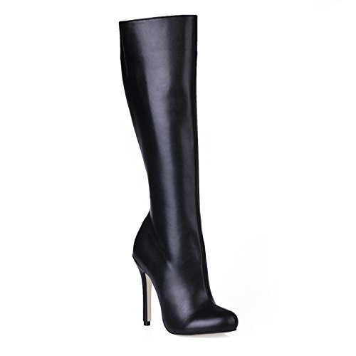 The high quality and boots winter new point black high heeled boots up boots Martin Black Cw49Nd6