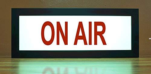 (ON AIR Recording TV Studio LED Illuminated Sign - Nostalgic Light Box w/Remote)
