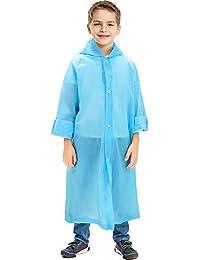 Portable Raincoat Rain Poncho with Hoods and Sleeves
