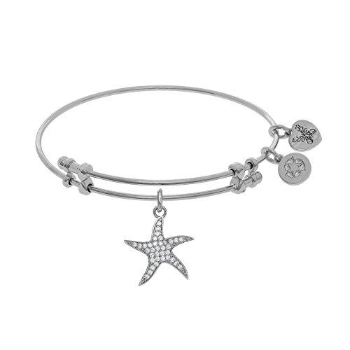 Angelica 7.25 Inches CZ Star Fish Bangle Bracelet Adjustable -  WGEL1544