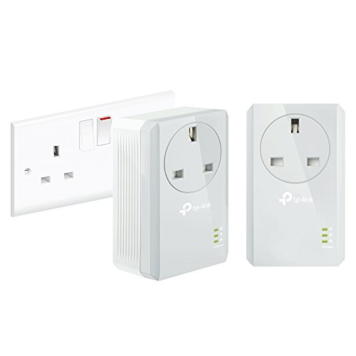 TP-Link TL-PA4010PKIT Passthrough Powerline Adapter Starter Kit, No...