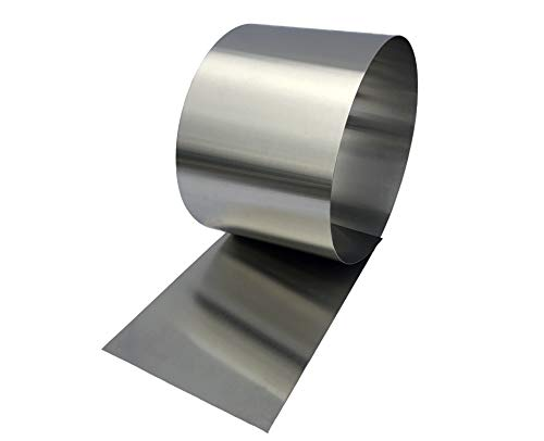 Stainless Steel Flashing Roll - Brushed Stainless Sheet Metal for Flashing, Backsplash, Decoration, Protection, Kitchen and Bath, Arts & Crafts Project, DIY - 10' Lengths (6