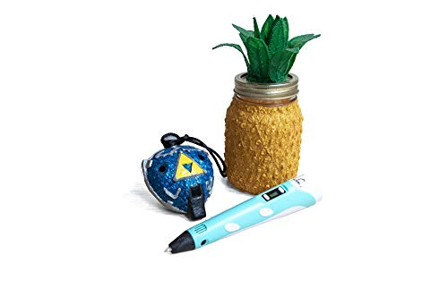 SCRIB3D P1 3-d Printing Pen with Display - Includes 3-d Pen, 3 Starter Colors of PLA Filament, Stencil Book + Project Guide, and Charger