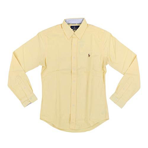 Big Pony Oxford Shirt - Ralph Lauren Mens Slim Fit Pony Logo Oxford Shirt (Medium, Yellow)