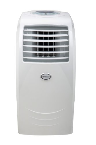 Global Air 12,000 BTU Portable Air Conditioner Cooling/Heating/Dehumidifying with Remote Control in White - Heater Air Seal