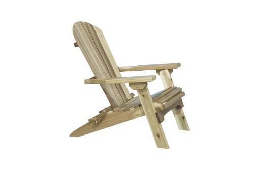 AC Montana Collection Western Red Cedar Folding Adirondack Chair, Ready to Finish (Outdoor Western Chair)