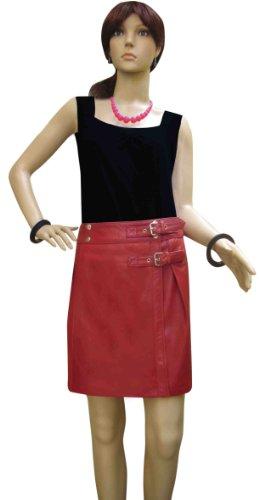 Bespoke Tailored Leather - Falda - para mujer Rosso