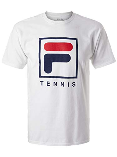 - Fila Men's F-Box Tennis Short Sleeve Crewneck T-Shirt (Large, White)