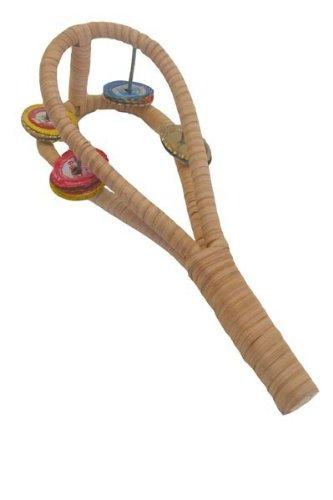 African Bottle Cap Tambourine, Double Sistrum Shaker - African Rattle