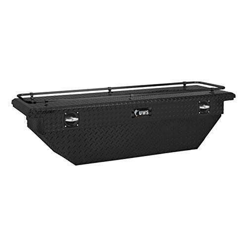 UWS SLD-69-A-LP-MB-R 69In Secure Lock Deep Angled Low Pro Matte Black With Rail Toolbox