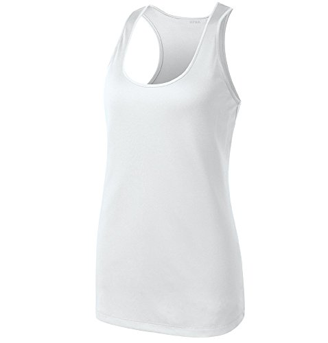 Opna Racerback Tank Tops for Women Moisture Wicking Workout Shirt Sizes XS-4XL White-S