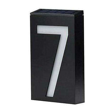 Numeri Chiari per Case Luce Esterna Impermeabile per Montaggio a Parete Targa Illuminata per Numeri Civici per Giardino Domestico Facile da Installare Yuanbbo Luci solari a LED per Numeri Civici