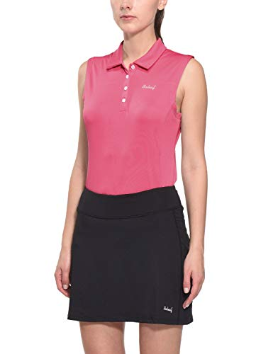 Baleaf Women's Golf Sleeveless Polo Shirts Quick Dry UPF 50+ Rose Pink Size XL
