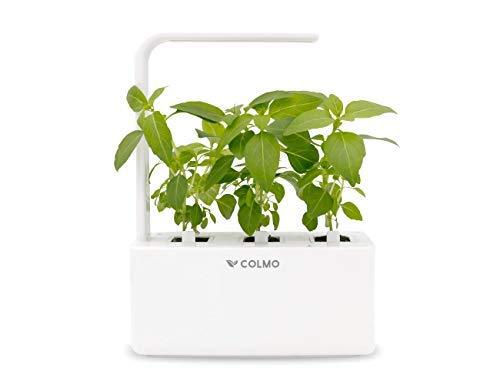 Indoor herb Garden kit with Spectrum LED hydroponic self Watering in-Home Smart Window Garden Fresh Herbs&Veggies Planter (White)