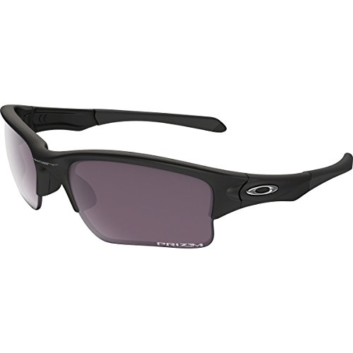 Oakley Men's Quarter Jacket Polarized Iridium Rectangular Sunglasses, Matte Black, 61 - Womens Oakley Jackets