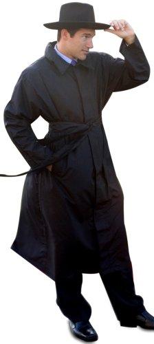 Black Long Raincoat - 8