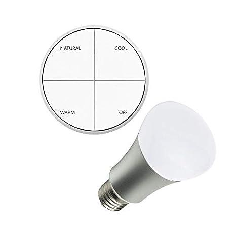Kit Pulsador Wireless Tª Color Seleccionable + Bombilla LED 8W efectoLED: Amazon.es: Iluminación