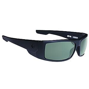 Spy Optic Konvoy Polarized Wrap Sunglasses, 66 mm (Matte Black)