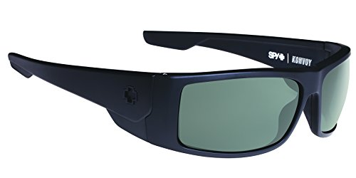 Spy Optic Konvoy Polarized Wrap Sunglasses, 66 mm (Matte - Sunglasses Matte Spy Black