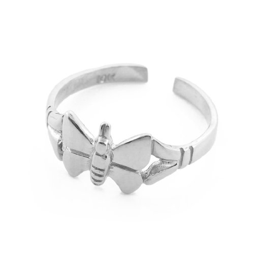 10k White Gold Butterfly Toe Ring by More Toe Rings (Image #2)