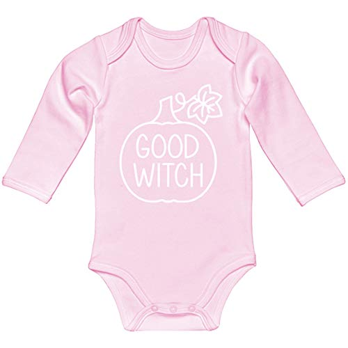 Indica Plateau Baby Onesie Good Witch Light Pink for 6 Months Long-Sleeve Infant Bodysuit -