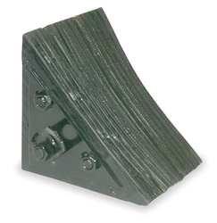 Industrial Grade 1GUL4 Wheel Chock, 7 In W x 7 3/4 In H, Black