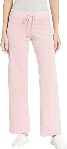 Juicy Couture Women's Mar Vista Velour Pants Dusty Pink Small 33 ()